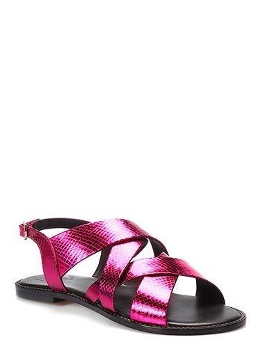 İnci Sandalet Fuşya